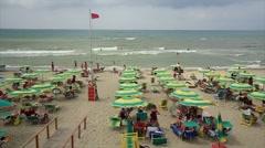 Mediterranean beach with wind Stock Footage