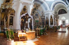 interior of the church of the holy face - stock photo