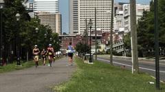 Richmond Rox Half Iron Distance Triathlon Stock Footage