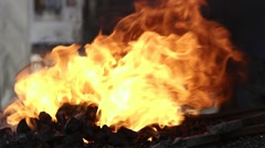 Blacksmith Forge Fire Stock Footage