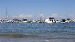 Stock Video Footage of Catalina Island Harbor Timelapse with Swimmer