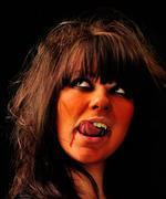 Vampire. woman with scary makeup Stock Photos