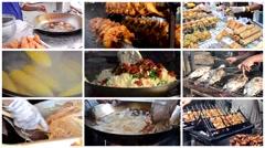 thai street food montage - stock footage