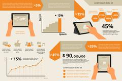 Infographic visualization of usability tablet pc Stock Illustration
