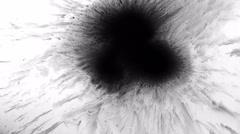 Inked Black Splash - stock footage