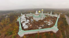 The temple complex of the New Jerusalem, under reconstruction and archaeological Stock Footage