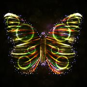Shiny Butterfly abstract vector, futuristic colorful strip, stylish illustration Stock Illustration