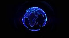 High Tech Rotating Globe Animation HD Stock Footage