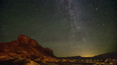 Milkyway stars TimeLapse Utah Desert 4k Stock Footage