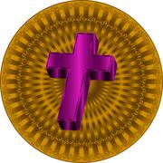 Christian cross design Stock Illustration