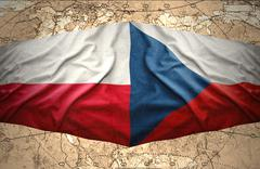 poland and czech republic - stock illustration