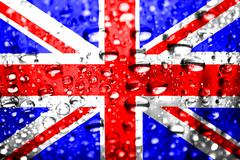 Stock Illustration of union jack wet