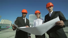 Stock Video Footage of Approval of the business plan of the new building