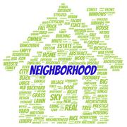 Neighborhood word cloud shape Piirros