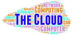The cloud word cloud shape Stock Illustration