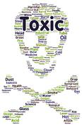 Toxic word cloud shape Stock Illustration