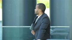 Portrait of a successful African businessman. Confident businessman Stock Footage