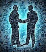 Industry agreement Stock Illustration