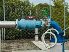 Water pipe control valve Stock Photos