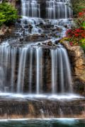 silky waterfall in high dynamic range - stock photo