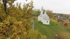 Flying over Ortodox Church, Russia Stock Footage
