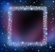 Space blank frame Stock Illustration