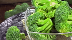 Rotating broccoli (loopable) Stock Footage