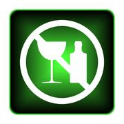 Stock Illustration of no alcohol icon