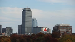 The city of Boston in Autumn Stock Footage