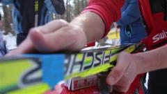 Nordic Ski Tuning Stock Footage