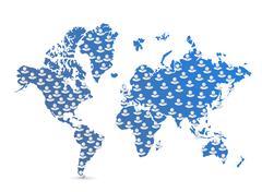 Stock Illustration of world map population illustration