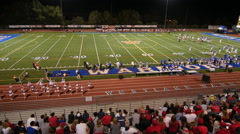 HIGH SCHOOL FOOTBALL TIME LAPSE HD - stock footage