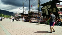 Stock Video Footage of 4K Alanya Turkey Turkish Tourist Paradise 83 port
