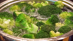 Cooking broccoli (in a pot) Stock Footage