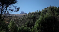 Mt. Kenya From A Distance Stock Footage