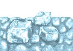 crushed ice - stock illustration