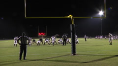 Extra point kick is wide night game Stock Footage