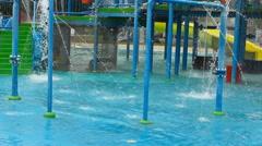 Aqua park amusement summer big recreation area with aquapark summer fun, Arkistovideo