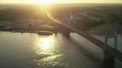 Cape Girardeau Bridge Stock Footage
