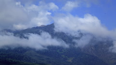 Clouds Swirling Around Mt. Meru Timelapse Stock Footage