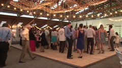 Wedding Reception Dance Floor Time Lapse Stock Footage