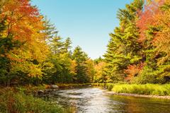Mersey river in fall Stock Photos