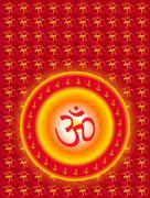 Stock Illustration of aum (om) the holy motif