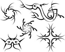 Tribal tattoo design Stock Illustration