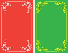 Frame border design Stock Illustration
