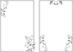 frame border design - stock illustration