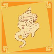 ganesha the lord of wisdom - stock illustration