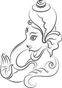 Ganesha the lord of wisdom Stock Illustration