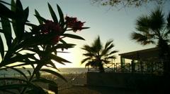 Stock Video Footage of 4K Mediterranean Sunset Silhouette 2 leander