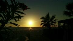 Stock Video Footage of 4K Mediterranean Sunset Silhouette 3 leander